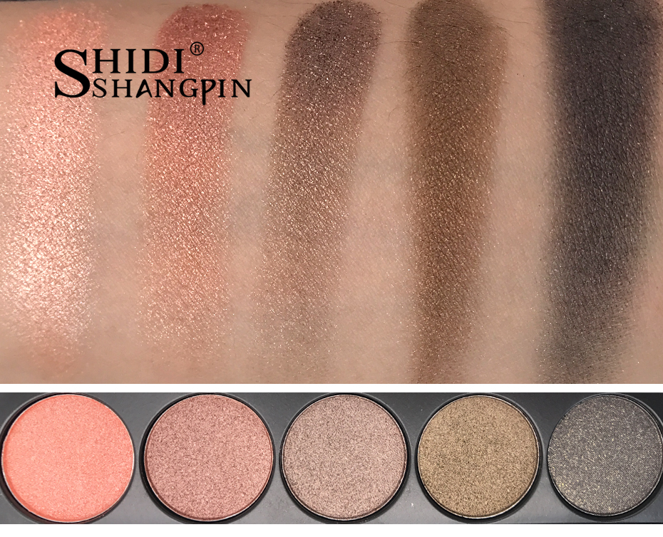 SHIDISHANGPIN 15 Earth Colors Matte Eyeshadow Palette Pigments Makeup Shimmer Eye Shadow Powder Contour Cosmetic Set P02 in Eye Shadow from Beauty Health