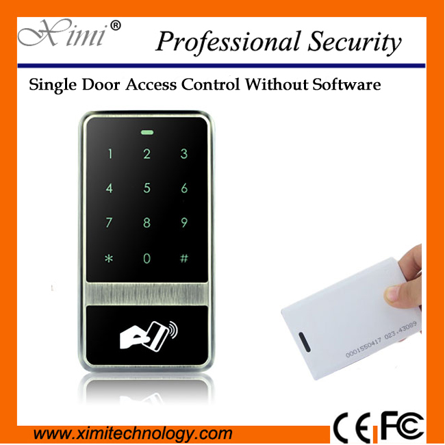 Free shipping IP65 Waterproof with touch keypad smart proximity M13D door access control system smart card reader f3 finger pin free shipping fingerprint access control reader with keypad waterproof structure design ip65 waterproof