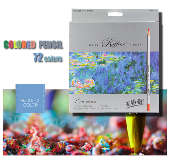 Marco fine art lapis decor 72 colori matite da disegno disegnare schizzi mitsubishi forniture scolastiche matita colorata scatola di metallo ass023