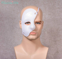 3pcs Phantom of the Opera Stage Show Drama Props Plastic Half Face One-eyed Multicolor Mask Festival Party Supplies
