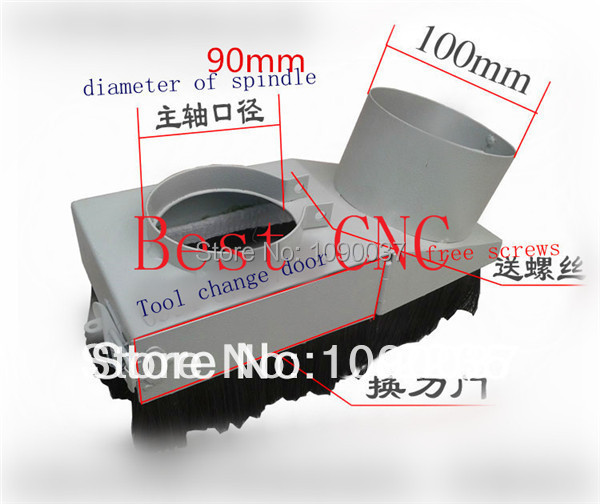 Free Shipping 90mm dust cover cnc machine free shipping 90