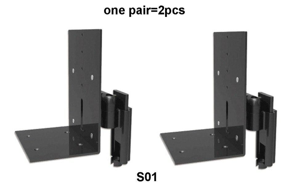 BL S01 Aluminium 2 stuks (1 paar) audio Speaker Mount Tilt Swivel Opknoping Bracket Quick Eenvoudige Installatie Ondersteuning Rack-in TV-montage van Consumentenelektronica op  Groep 1