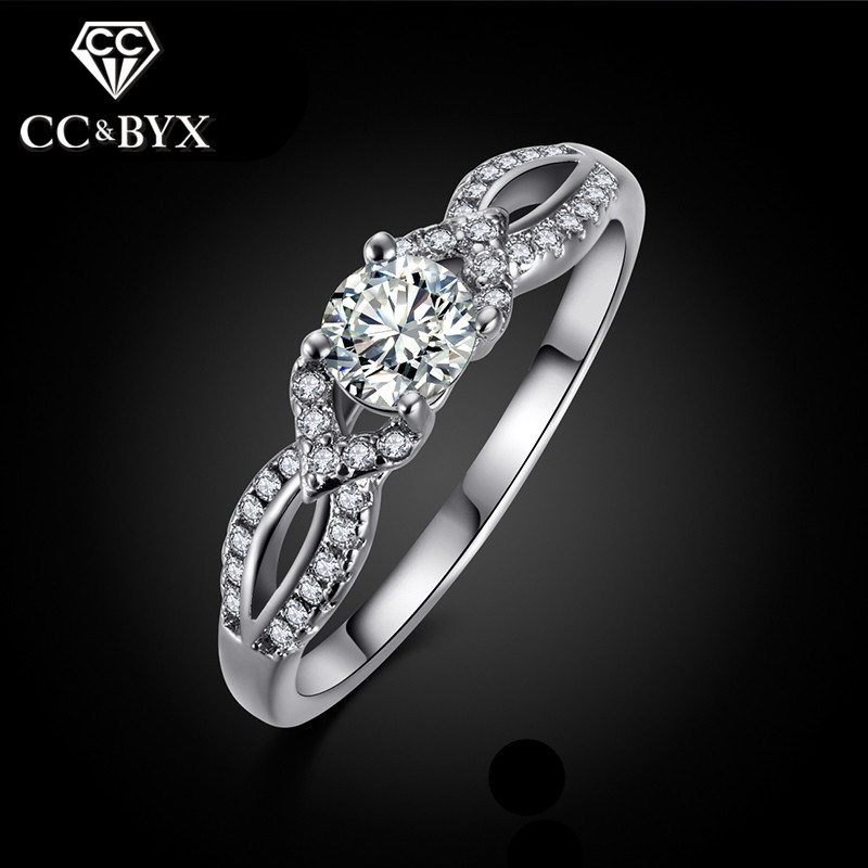 Designer Women' Wedding Rings Fashion White Gold Color Cheap Jewelry Engagement
