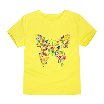 2019 Toddler Baby Girls Butterfly 3D T Shirts Kids Floral Butterfly T Shirt Children Flower T-shirt Summer Tops Girls Clothing