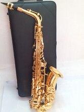 Quality Saxophone Alto Sax YAS 62 EX Professional E-flat Gold Saxofone Top Musical Instruments