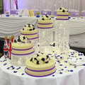 FREE Shipping 5PCS/Lot Wedding Cake Stand Crystal Centerpieces