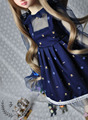 New Gentle quiet Blue Print Lace Dress Doll Skirts For Bjd SD10 1/4 Doll Bjd clothes