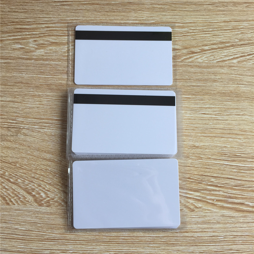 10pcs Blank White PVC 8mm Hico 1-3 Magnetic Stripe Card Plastic Credit Card 30Mil Magnetic Card With Printable For Card Printer