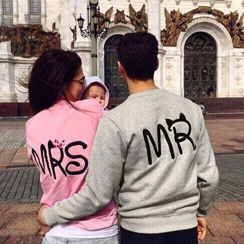 Mr Mrs Printed Pullover Hoodies Couples Lovers Sweatshirt Men Women Shirts Hoodie Casual Long Sleeve Tops Sudaderas Mujer 2019