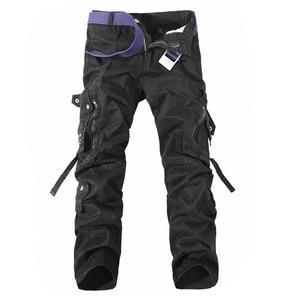 Image 4 - גברים מכנסיים מטען מכירה לוהטת בתוספת גודל 28 42 רופף מותג Homme צבאי מכנסיים צבא מותג בגדים מזדמנים לעבוד מכנסיים גברים