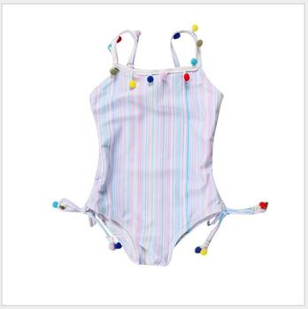 toddler girl cute Colorful stripes backless one-piece swimsuit infant lovely beach clothing for a holiday baby girl swimwear