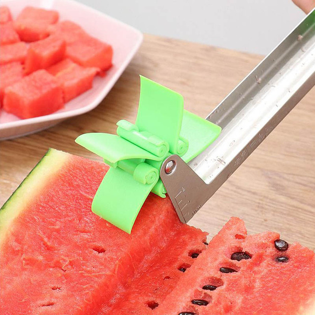 Watermelon Windmill Cutter Stainless Steel Cutting Watermelon Artifact Fruit Cutting Artifact Creative Style Cutting Fruit Slice 3