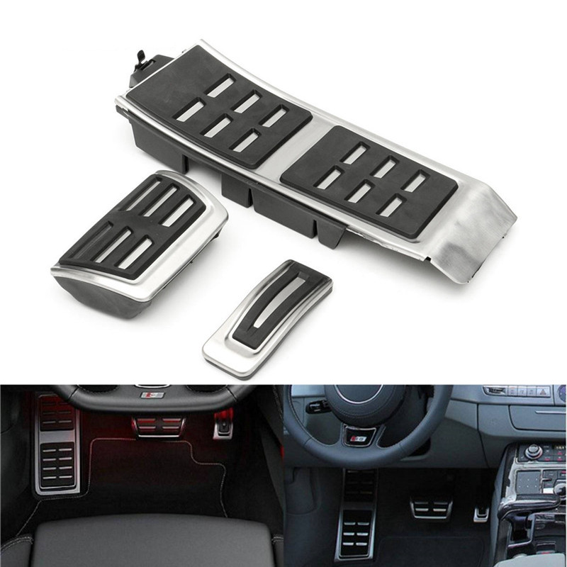 AT MT FootRest Fuel Gas Brake Clutch Accelerator Pedals Plate Cover For Audi A4 S4 B8 S4 RS4 Q5 A5 RS5 8T 8R 2009-2015 A6 S6 C7