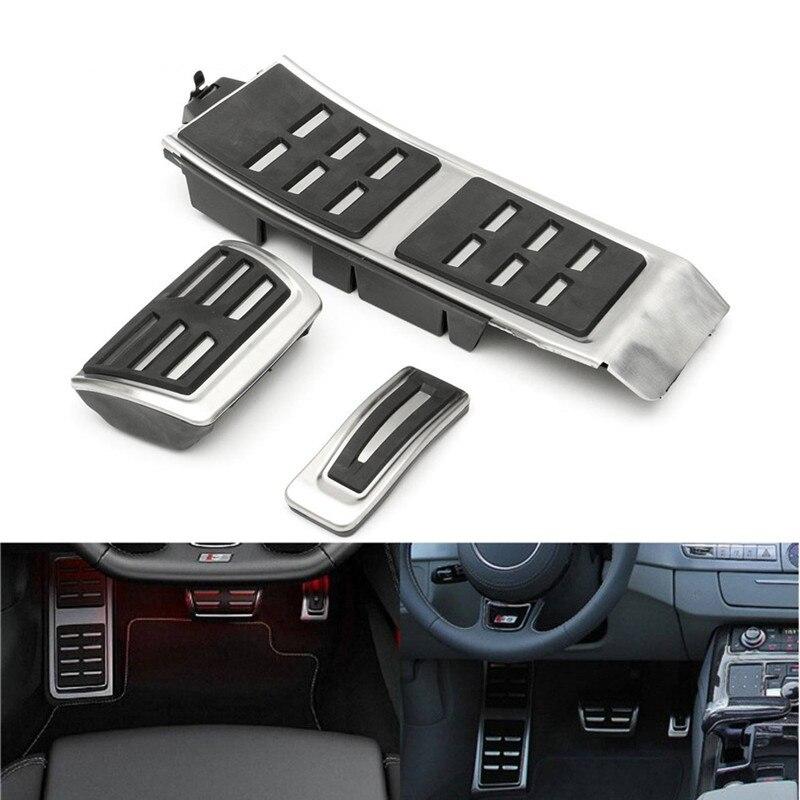 AT MT FootRest Fuel Gas Brake Clutch Accelerator Pedals Plate Cover For Audi A4 S4 B8 S4 RS4 Q5 A5 RS5 8T 8R 2009-2015 A6 S6 C7