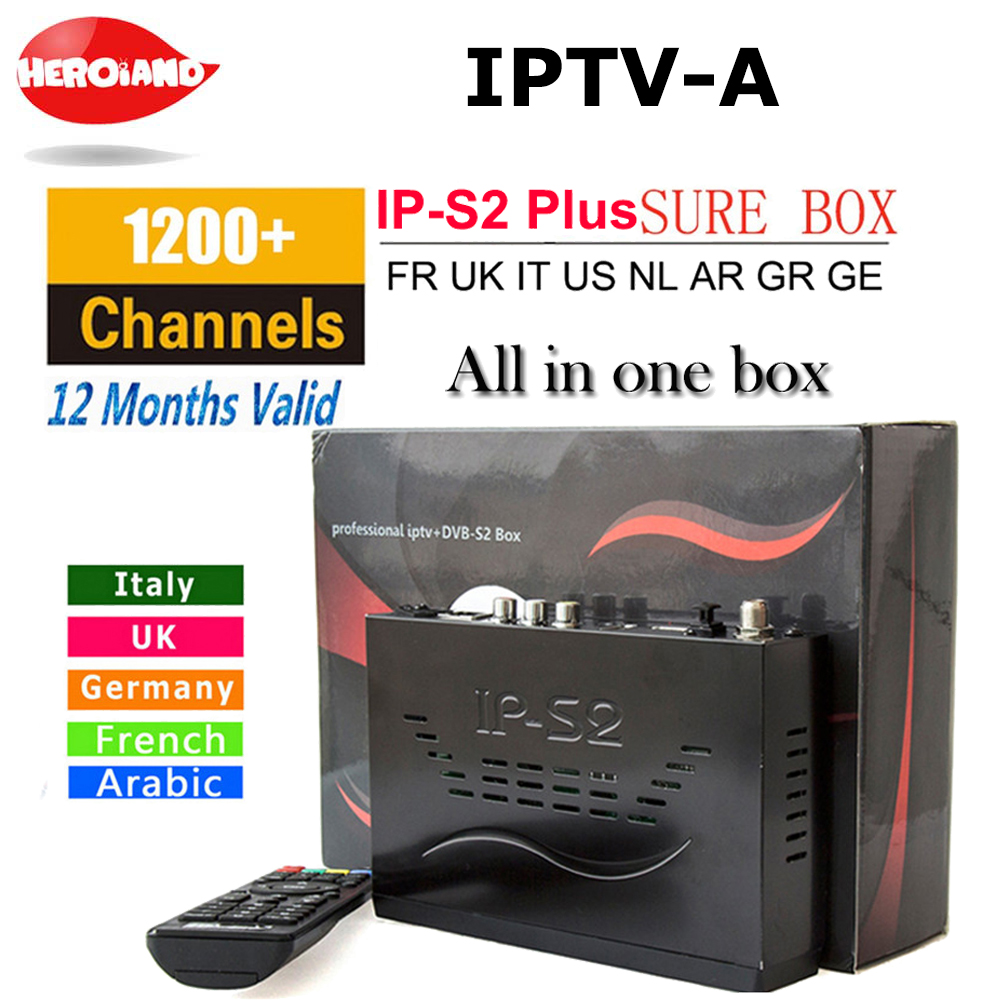 1 Year Arabic German UK Spain Sports Live TV Europe IPTV Box 1150+ Channels Support IPTV M3U HD Support DVB S2 Smart Set Top Box