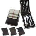 9 unids/set Clipper Uñas Kit Nail Herramientas de Manicura Cuidado de las Uñas Clipper Tijera Pinzas Earpick Kit Con El Caso