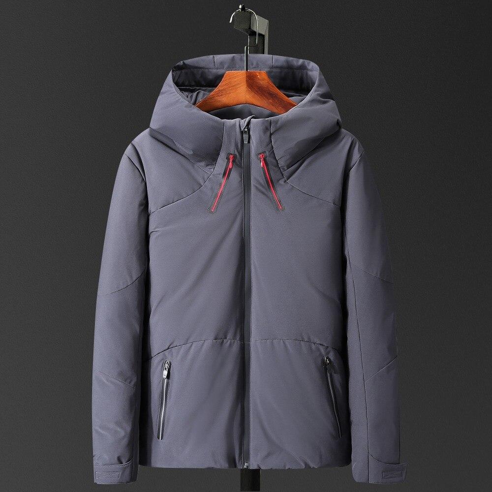 Tace & Shark brand men's winter jackets wind breaker thick duck   down   jacket men zipper casual fashion   down     coat   doudoune homme