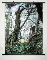 Home Decor Anime Mushishi Zoku Shou Wall Scroll Poster Fabric Painting Ginko 03