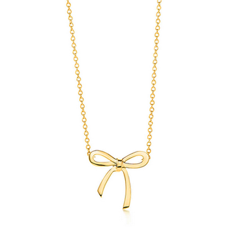 Small bow necklace pendants wholesale gold color chain bow small bow necklace pendants wholesale gold color chain bow necklaces young girls necklace aloadofball Image collections