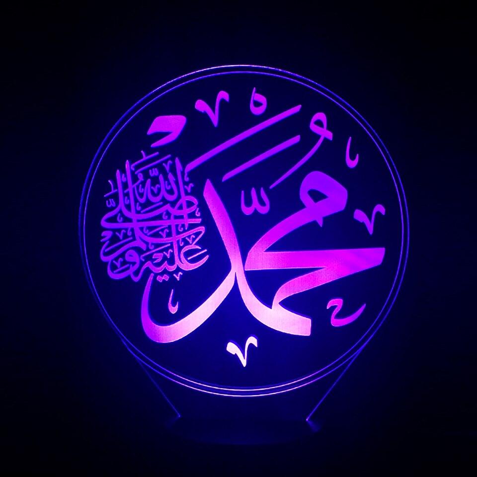 Картинка с надписью аллах мухаммад