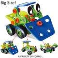 Новый Дизайн Тип образования DIY jalopy автомобиль малыш Детские игрушки Собраны Модели Отвертка Инструмент Деформации Сборки различных форм