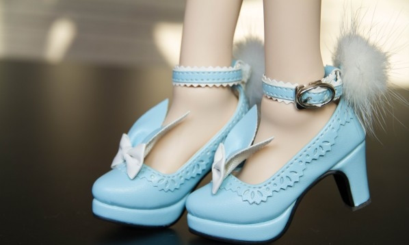 Купить BJD doll shoes high-heeled for flat foot rabbit shoes for 1/3 BJD SD10 SD13 DD girl doll beautiful cute shoes not for boy doll в Москве и СПБ с доставкой недорого