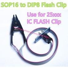 Clipe de teste programador, clipe de teste soic 16 soic 16 com cabo/sop16 para dip8 ic flash clipe clipe