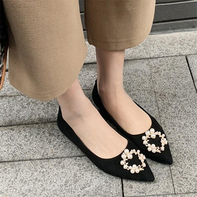 Calidad Primavera De Cuero Llegada 2019 Sexy Diseño Las Superior Zapatos Básicos Mujer Negro Pisos Fedonas 1 Clásico Elegante Mujeres Nueva Genuino gTt4wx4qE