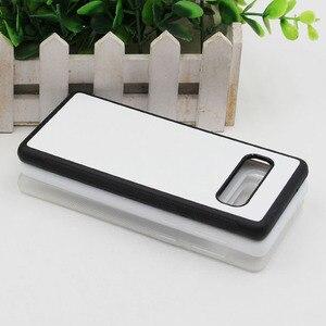 Image 3 - MANNIYA per Samsung Galaxy S10/S10 Plus/S10 Lite Sublimazione in bianco TPU + PC della Cassa della gomma con Alluminio inserti e Colla 100 pz/lotto