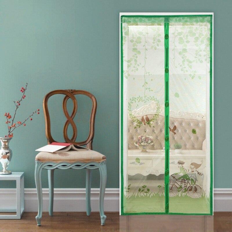 FleißIg 90/100 X210 Cm Magnetische Vorhänge Tür Bildschirm Tüll Anti-mosquit Vorhang Hände-freies Moskito Net Vorhang Für Küche Tür Bildschirme Fensterbehandlungen
