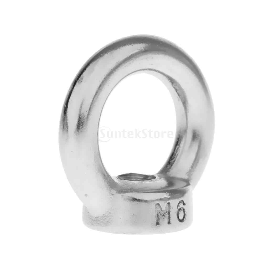 M6 M8 M10 M12 M14 M18 M20 M22 304 Stainless Steel Threaded Lifting Eye Nut Ring Shape Nuts Loop Hole for Cable Rope