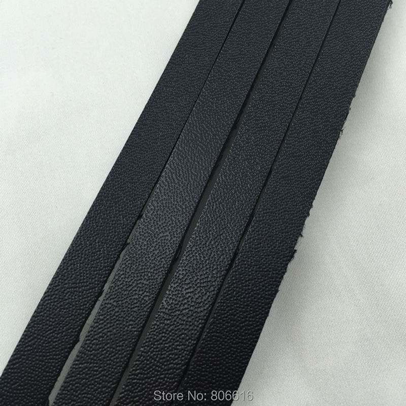 8MM/W (2MM thickness) 15M Black Flat PU Imitation Suede Leather Cords Strings Jewelry Ropes