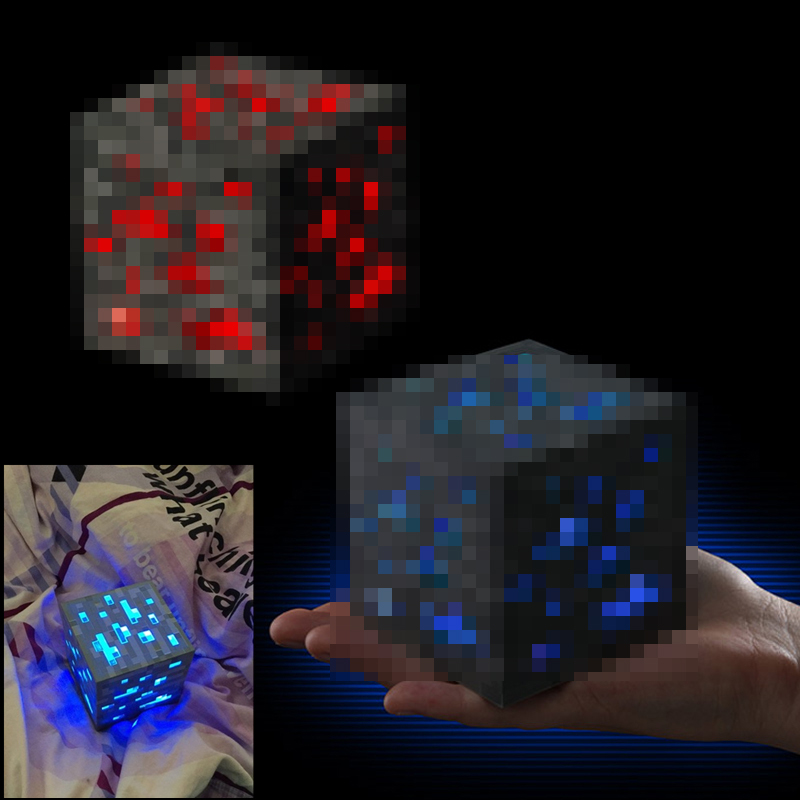 Minecraft Figures Light-Up Redstone Diamond-Ore Kids Gift Toys