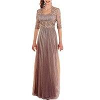 Фиолетовое шифоновое платье для мамы невесты с курткой плюс размер платье для матери невесты Vestido De платье крестной Mere De Mariee