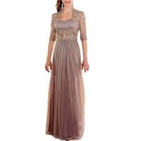 Purple Chiffon Mother Of The Bride Dresse With Jacket Plus Size Bride Mother Dress Vestido De Madrinha Robe Mere De Mariee