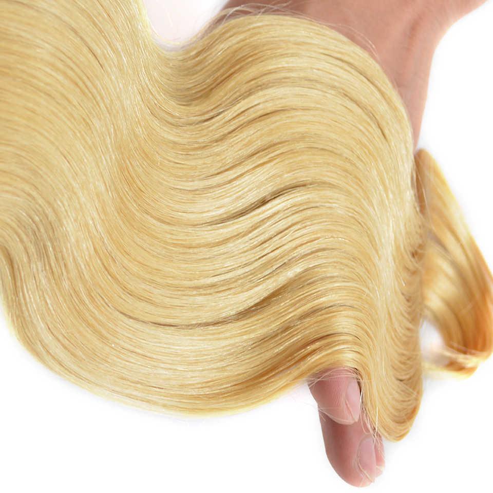 Baisi cabelo brasileiro remy cabelo #613 loira onda do corpo extensões de cabelo 100% cabelo humano