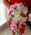 2017 Букет де mariage Дешевые Розовый и Кот Teardrop Свадебный Букет Невесты Свадебный Букет Искусственный Букет Невесты
