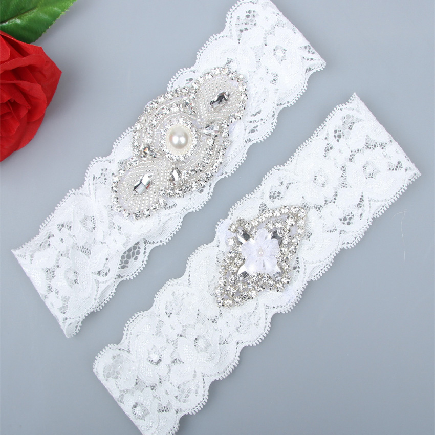 Ivory Garters Wedding: 2pcs/set Ivory Wedding Garter Set Ivory Lace Bridal Garter