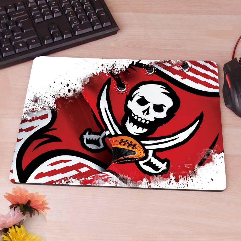 MaiYaCa Tampa Bay Buccaneers wallpaper Computer Mouse Pad Mousepads Decorate Your Desk Non-Skid Rubber Pad