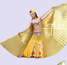 Hot Selling Angle Wings Egyptian Egypt Belly Dancing Costume Isis Wings Dance Wear without sticks