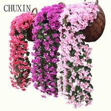 Искусственные шелковые фиолетовые гобелены для стен, подоконник для дома, украшение для балкона, искусственный цветок для свадьбы, дорожное оформление, украшение для отеля