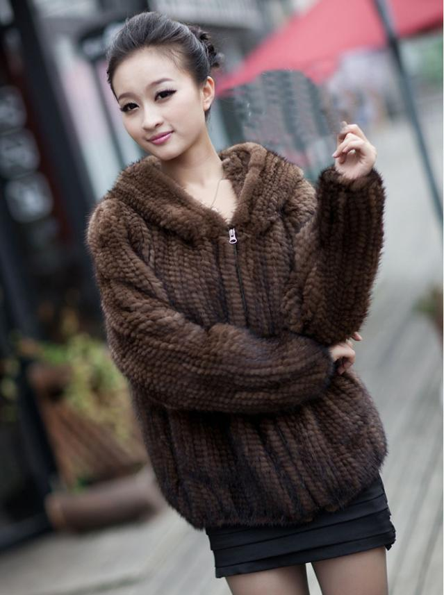Aliexpress.com : Buy Hot Sale Real Fur Coats Women Handmade Knitted Mink Fur  Coat With Fur Hood Winter Fur Jackets For Women Free Shipping YC191 from ... - Aliexpress.com : Buy Hot Sale Real Fur Coats Women Handmade