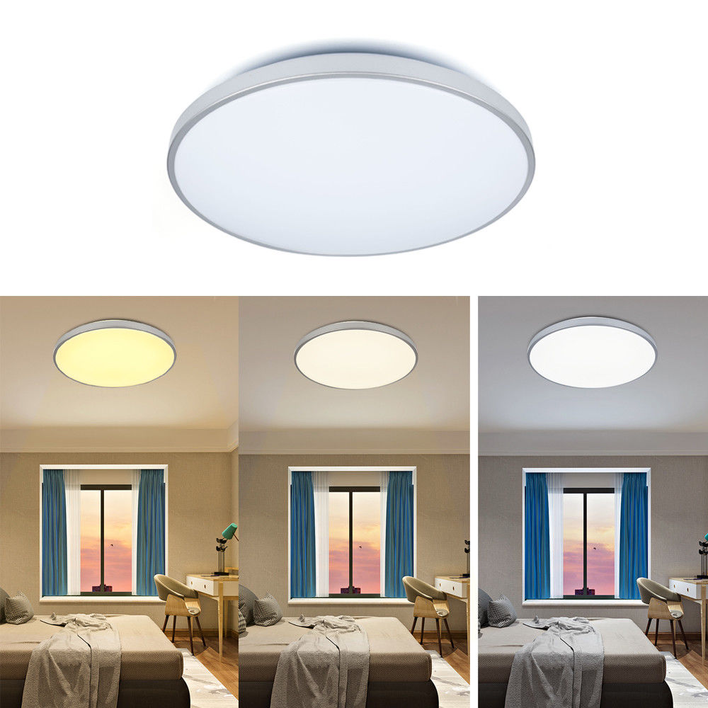 LED Ceiling Light Round Square 12W 16W 24W 50W 60W Modern Ceiling Lamp Silver Edge Color Change 2700K/4500k/6500k Indoor LightLED Ceiling Light Round Square 12W 16W 24W 50W 60W Modern Ceiling Lamp Silver Edge Color Change 2700K/4500k/6500k Indoor Light
