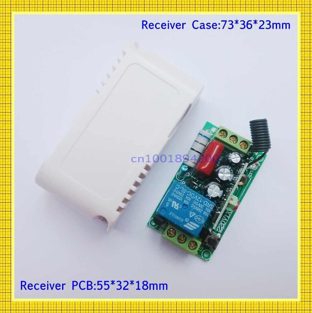 220v 1ch rf bezprzewodowy zdalny przełącznik światło bezprzewodowe lampa LED przełącznik 1 odbiornik 2 nadajnik 315/433 pilot ON OFF Controller