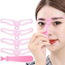 8 In 1/4 1 Reusable Eyebrow Shaping Template Helper Stencils Kit Grooming Card Defining Makeup Drawing Guide Cosmetic Tools