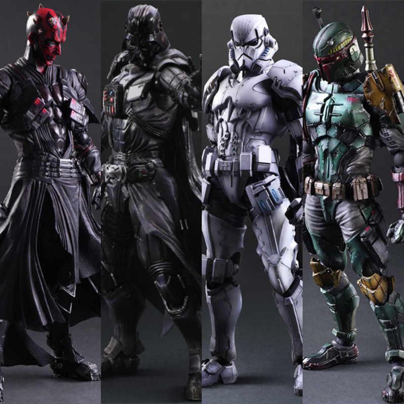 Star wars pa kai filme figura de ação jogar artes kai bobo fett darth vader stormtrooper maul modelo brinquedo jogar artes star wars boneca