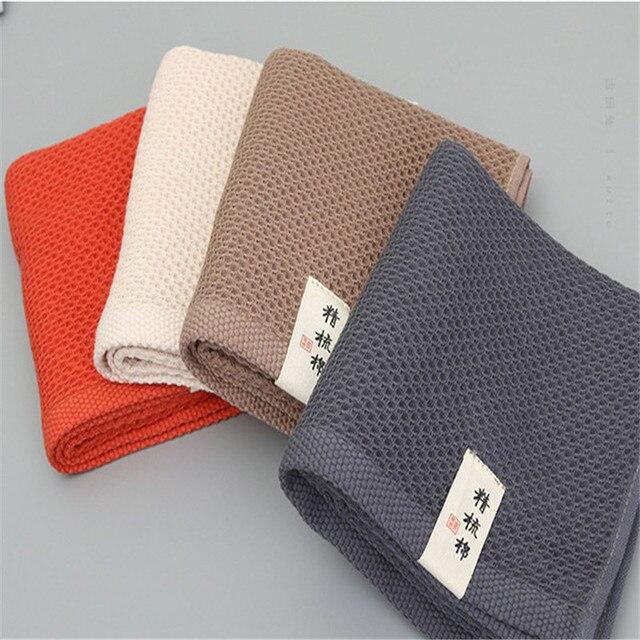 a7f965de0d 1 STÜCK 100% Baumwolle Handtuch 34*75 cm Quick-Dry Hause Täglichen Mit  Gesundheit hautpflege Handtuch Umwelt schutz waben formen