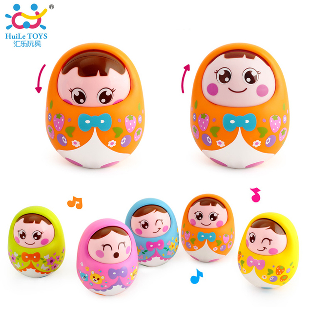 Kids Musical Nevalyashka Tumbler Toy Infant Cartoon Doll Roly-poly Toy Tumbler Baby Toy with Sound Children 1 - 3 Years Old Toys