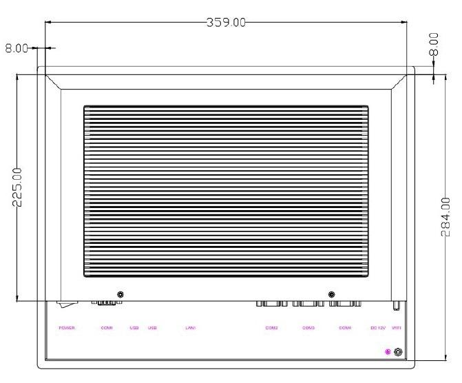 15-tommers sollys-lesbar industripanel, Core i3-3217U CPU, 4 GB RAM, - Industrielle datamaskiner og tilbehør - Bilde 4