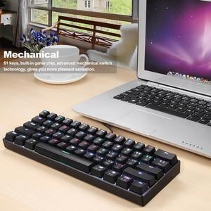 Image 4 - MOTOSPEED CK61 Mechanical Keyboard RGB Backlight 61 Key Blue/Black Switches Gaming Keypad 2ms Response Speed All Anti ghost Keys